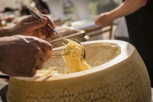 Pasta aus dem Parmesan